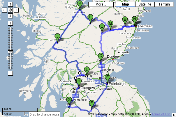 Second Cycling Tour of Scotland – 1976