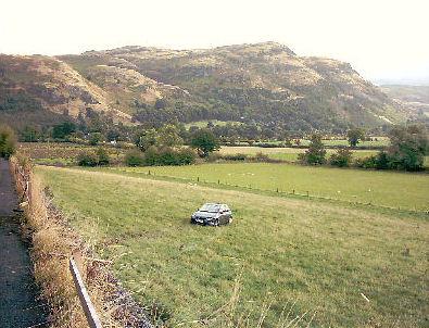 car in a field